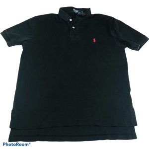 Polo Ralph Lauren Black Polo Shirt Short Sleeve